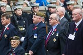 Remembrance Sunday at the Cenotaph 2015: Group A11, Coldstream Guards Association. Cenotaph, Whitehall, London SW1, London, Greater London, United Kingdom, on 08 November 2015 at 12:10, image #1257