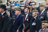 Remembrance Sunday at the Cenotaph 2015: Group A12, Scots Guards Association. Cenotaph, Whitehall, London SW1, London, Greater London, United Kingdom, on 08 November 2015 at 12:11, image #1264