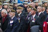 Remembrance Sunday at the Cenotaph 2015: Group A12, Scots Guards Association. Cenotaph, Whitehall, London SW1, London, Greater London, United Kingdom, on 08 November 2015 at 12:11, image #1266