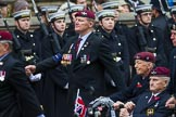 Remembrance Sunday at the Cenotaph 2015: Group A13, Guards Parachute Association. Cenotaph, Whitehall, London SW1, London, Greater London, United Kingdom, on 08 November 2015 at 12:11, image #1272