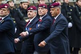 Remembrance Sunday at the Cenotaph 2015: Group A14, 4 Company Association (Parachute Regiment). Cenotaph, Whitehall, London SW1, London, Greater London, United Kingdom, on 08 November 2015 at 12:11, image #1291