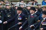 Remembrance Sunday at the Cenotaph 2015: Group A14, 4 Company Association (Parachute Regiment). Cenotaph, Whitehall, London SW1, London, Greater London, United Kingdom, on 08 November 2015 at 12:11, image #1292