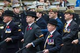 Remembrance Sunday at the Cenotaph 2015: Group A14, 4 Company Association (Parachute Regiment). Cenotaph, Whitehall, London SW1, London, Greater London, United Kingdom, on 08 November 2015 at 12:11, image #1293