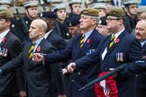 Remembrance Sunday at the Cenotaph 2015: Group A14, 4 Company Association (Parachute Regiment). Cenotaph, Whitehall, London SW1, London, Greater London, United Kingdom, on 08 November 2015 at 12:11, image #1295