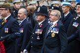 Remembrance Sunday at the Cenotaph 2015: Group A14, 4 Company Association (Parachute Regiment). Cenotaph, Whitehall, London SW1, London, Greater London, United Kingdom, on 08 November 2015 at 12:11, image #1297