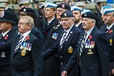Remembrance Sunday at the Cenotaph 2015: Group A14, 4 Company Association (Parachute Regiment). Cenotaph, Whitehall, London SW1, London, Greater London, United Kingdom, on 08 November 2015 at 12:11, image #1298