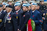 Remembrance Sunday at the Cenotaph 2015: Group A14, 4 Company Association (Parachute Regiment). Cenotaph, Whitehall, London SW1, London, Greater London, United Kingdom, on 08 November 2015 at 12:11, image #1299