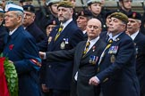 Remembrance Sunday at the Cenotaph 2015: Group A14, 4 Company Association (Parachute Regiment). Cenotaph, Whitehall, London SW1, London, Greater London, United Kingdom, on 08 November 2015 at 12:11, image #1300
