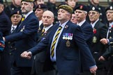 Remembrance Sunday at the Cenotaph 2015: Group A14, 4 Company Association (Parachute Regiment). Cenotaph, Whitehall, London SW1, London, Greater London, United Kingdom, on 08 November 2015 at 12:11, image #1301