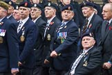 Remembrance Sunday at the Cenotaph 2015: Group A14, 4 Company Association (Parachute Regiment). Cenotaph, Whitehall, London SW1, London, Greater London, United Kingdom, on 08 November 2015 at 12:11, image #1302