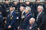Remembrance Sunday at the Cenotaph 2015: Group A14, 4 Company Association (Parachute Regiment). Cenotaph, Whitehall, London SW1, London, Greater London, United Kingdom, on 08 November 2015 at 12:11, image #1304