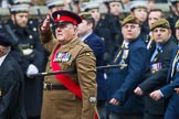 Remembrance Sunday at the Cenotaph 2015: Group A15, Princess of Wales's Royal Regiment. Cenotaph, Whitehall, London SW1, London, Greater London, United Kingdom, on 08 November 2015 at 12:11, image #1307