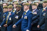Remembrance Sunday at the Cenotaph 2015: Group A15, Princess of Wales's Royal Regiment. Cenotaph, Whitehall, London SW1, London, Greater London, United Kingdom, on 08 November 2015 at 12:11, image #1309