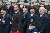 Remembrance Sunday at the Cenotaph 2015: Group A18, Royal Hampshire Regiment Comrades Association. Cenotaph, Whitehall, London SW1, London, Greater London, United Kingdom, on 08 November 2015 at 12:12, image #1313