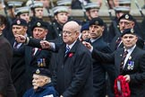 Remembrance Sunday at the Cenotaph 2015: Group A18, Royal Hampshire Regiment Comrades Association. Cenotaph, Whitehall, London SW1, London, Greater London, United Kingdom, on 08 November 2015 at 12:12, image #1314
