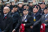 Remembrance Sunday at the Cenotaph 2015: Group A18, Royal Hampshire Regiment Comrades Association. Cenotaph, Whitehall, London SW1, London, Greater London, United Kingdom, on 08 November 2015 at 12:12, image #1315