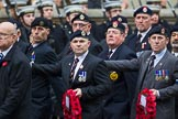 Remembrance Sunday at the Cenotaph 2015: Group A18, Royal Hampshire Regiment Comrades Association. Cenotaph, Whitehall, London SW1, London, Greater London, United Kingdom, on 08 November 2015 at 12:12, image #1316