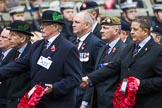 Remembrance Sunday at the Cenotaph 2015: Group A23, Cheshire Regiment Association. Cenotaph, Whitehall, London SW1, London, Greater London, United Kingdom, on 08 November 2015 at 12:12, image #1353