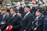 Remembrance Sunday at the Cenotaph 2015: Group A23, Cheshire Regiment Association. Cenotaph, Whitehall, London SW1, London, Greater London, United Kingdom, on 08 November 2015 at 12:12, image #1354