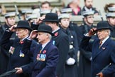 Remembrance Sunday at the Cenotaph 2015: Group A25, Mercian Regiment Association. Cenotaph, Whitehall, London SW1, London, Greater London, United Kingdom, on 08 November 2015 at 12:13, image #1357
