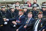 Remembrance Sunday at the Cenotaph 2015: Group A27, The King's Own Royal Border Regiment. Cenotaph, Whitehall, London SW1, London, Greater London, United Kingdom, on 08 November 2015 at 12:13, image #1360