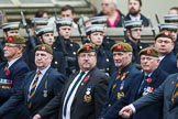 Remembrance Sunday at the Cenotaph 2015: Group A27, The King's Own Royal Border Regiment. Cenotaph, Whitehall, London SW1, London, Greater London, United Kingdom, on 08 November 2015 at 12:13, image #1361