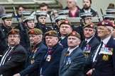 Remembrance Sunday at the Cenotaph 2015: Group A27, The King's Own Royal Border Regiment. Cenotaph, Whitehall, London SW1, London, Greater London, United Kingdom, on 08 November 2015 at 12:13, image #1362