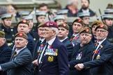 Remembrance Sunday at the Cenotaph 2015: Group A27, The King's Own Royal Border Regiment. Cenotaph, Whitehall, London SW1, London, Greater London, United Kingdom, on 08 November 2015 at 12:13, image #1363