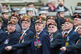 Remembrance Sunday at the Cenotaph 2015: Group A27, The King's Own Royal Border Regiment. Cenotaph, Whitehall, London SW1, London, Greater London, United Kingdom, on 08 November 2015 at 12:13, image #1365
