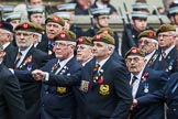Remembrance Sunday at the Cenotaph 2015: Group A27, The King's Own Royal Border Regiment. Cenotaph, Whitehall, London SW1, London, Greater London, United Kingdom, on 08 November 2015 at 12:13, image #1366