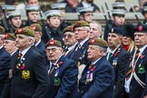 Remembrance Sunday at the Cenotaph 2015: Group A27, The King's Own Royal Border Regiment. Cenotaph, Whitehall, London SW1, London, Greater London, United Kingdom, on 08 November 2015 at 12:13, image #1367