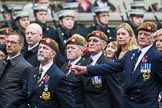 Remembrance Sunday at the Cenotaph 2015: Group A27, The King's Own Royal Border Regiment. Cenotaph, Whitehall, London SW1, London, Greater London, United Kingdom, on 08 November 2015 at 12:13, image #1370