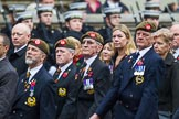 Remembrance Sunday at the Cenotaph 2015: Group A27, The King's Own Royal Border Regiment. Cenotaph, Whitehall, London SW1, London, Greater London, United Kingdom, on 08 November 2015 at 12:13, image #1371