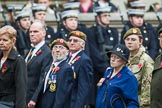 Remembrance Sunday at the Cenotaph 2015: Group A27, The King's Own Royal Border Regiment. Cenotaph, Whitehall, London SW1, London, Greater London, United Kingdom, on 08 November 2015 at 12:13, image #1373