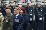Remembrance Sunday at the Cenotaph 2015: Group A27, The King's Own Royal Border Regiment. Cenotaph, Whitehall, London SW1, London, Greater London, United Kingdom, on 08 November 2015 at 12:13, image #1376