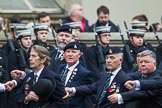 Remembrance Sunday at the Cenotaph 2015: Group A28, The Staffordshire Regiment. Cenotaph, Whitehall, London SW1, London, Greater London, United Kingdom, on 08 November 2015 at 12:13, image #1378