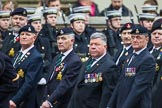 Remembrance Sunday at the Cenotaph 2015: Group A28, The Staffordshire Regiment. Cenotaph, Whitehall, London SW1, London, Greater London, United Kingdom, on 08 November 2015 at 12:13, image #1379