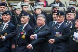 Remembrance Sunday at the Cenotaph 2015: Group A28, The Staffordshire Regiment. Cenotaph, Whitehall, London SW1, London, Greater London, United Kingdom, on 08 November 2015 at 12:13, image #1380