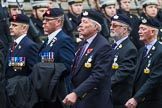 Remembrance Sunday at the Cenotaph 2015: Group A30, The Rifles & Royal Gloucestershire, Berkshire & Wiltshire Regimental Association. Cenotaph, Whitehall, London SW1, London, Greater London, United Kingdom, on 08 November 2015 at 12:13, image #1397