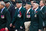 Remembrance Sunday at the Cenotaph 2015: Group A32, King's Royal Rifle Corps Association. Cenotaph, Whitehall, London SW1, London, Greater London, United Kingdom, on 08 November 2015 at 12:13, image #1401