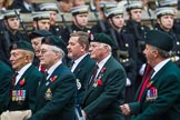 Remembrance Sunday at the Cenotaph 2015: Group A32, King's Royal Rifle Corps Association. Cenotaph, Whitehall, London SW1, London, Greater London, United Kingdom, on 08 November 2015 at 12:13, image #1402