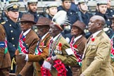 Remembrance Sunday at the Cenotaph 2015: Group A33, King's African Rifles. Cenotaph, Whitehall, London SW1, London, Greater London, United Kingdom, on 08 November 2015 at 12:14, image #1408