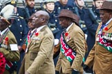 Remembrance Sunday at the Cenotaph 2015: Group A33, King's African Rifles. Cenotaph, Whitehall, London SW1, London, Greater London, United Kingdom, on 08 November 2015 at 12:14, image #1409