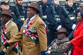 Remembrance Sunday at the Cenotaph 2015: Group A33, King's African Rifles. Cenotaph, Whitehall, London SW1, London, Greater London, United Kingdom, on 08 November 2015 at 12:14, image #1410