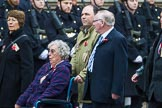 Remembrance Sunday at the Cenotaph 2015: Group M5, Evacuees Reunion Association. Cenotaph, Whitehall, London SW1, London, Greater London, United Kingdom, on 08 November 2015 at 12:14, image #1444