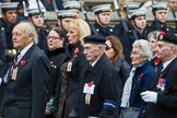 Remembrance Sunday at the Cenotaph 2015: Group M5, Evacuees Reunion Association. Cenotaph, Whitehall, London SW1, London, Greater London, United Kingdom, on 08 November 2015 at 12:15, image #1445