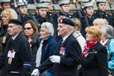 Remembrance Sunday at the Cenotaph 2015: Group M5, Evacuees Reunion Association. Cenotaph, Whitehall, London SW1, London, Greater London, United Kingdom, on 08 November 2015 at 12:15, image #1446