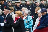 Remembrance Sunday at the Cenotaph 2015: Group M5, Evacuees Reunion Association. Cenotaph, Whitehall, London SW1, London, Greater London, United Kingdom, on 08 November 2015 at 12:15, image #1447