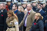 Remembrance Sunday at the Cenotaph 2015: Group M8, Naval Canteen Service & Expeditionary Force Institutes Association (previously NAAFI). Cenotaph, Whitehall, London SW1, London, Greater London, United Kingdom, on 08 November 2015 at 12:15, image #1461