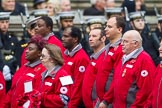 Remembrance Sunday at the Cenotaph 2015: Group M16, British Red Cross. Cenotaph, Whitehall, London SW1, London, Greater London, United Kingdom, on 08 November 2015 at 12:16, image #1514